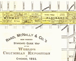 Portion of an 1893 Rand McNally map of the Midway grounds.